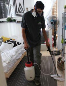 ריסוס מקצועי לדירה בחדר שינה